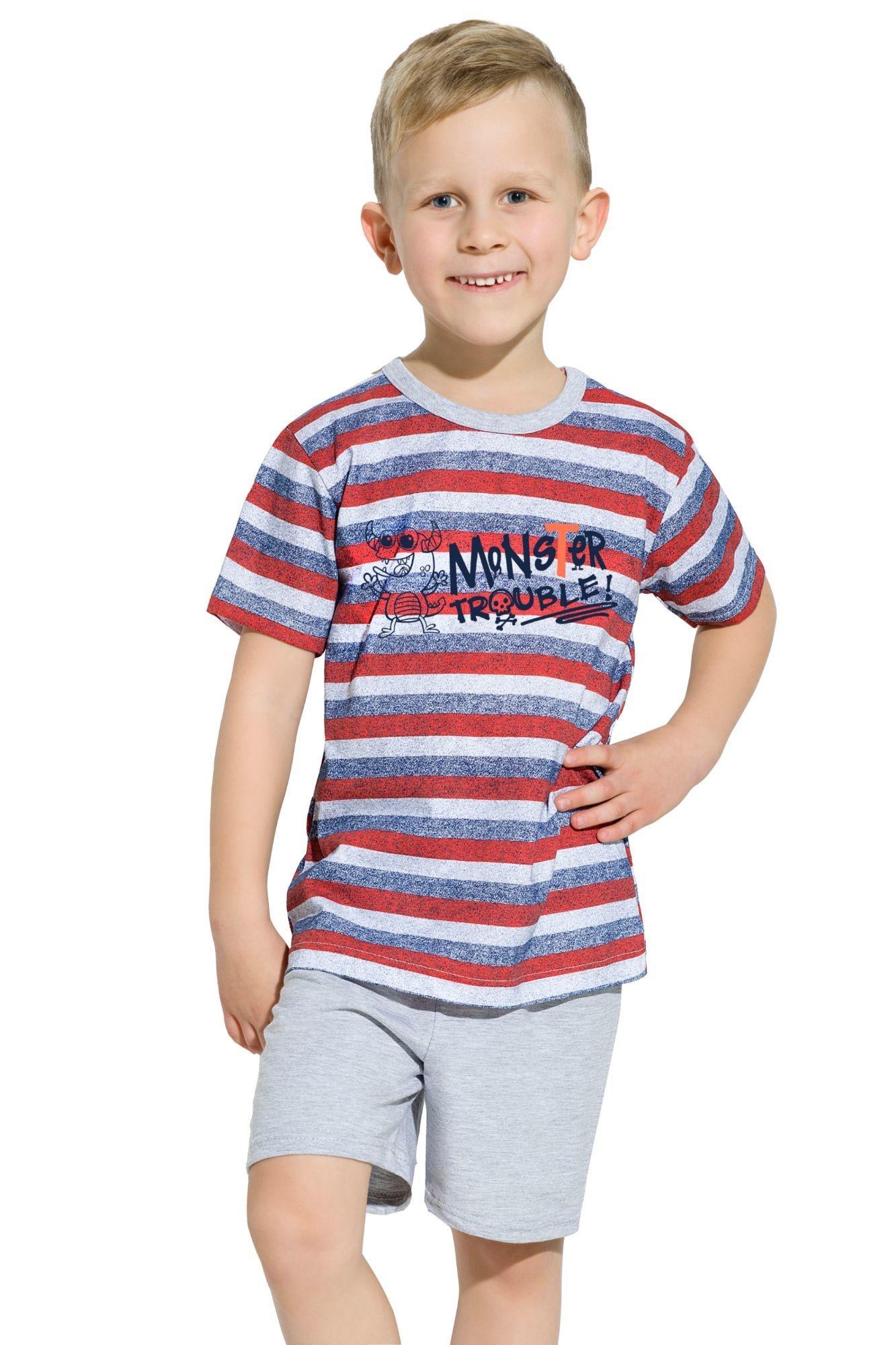 41ac2e82db1c Chlapčenské bavlnené pyžamo Maxík prúžky - ELEGANT.sk
