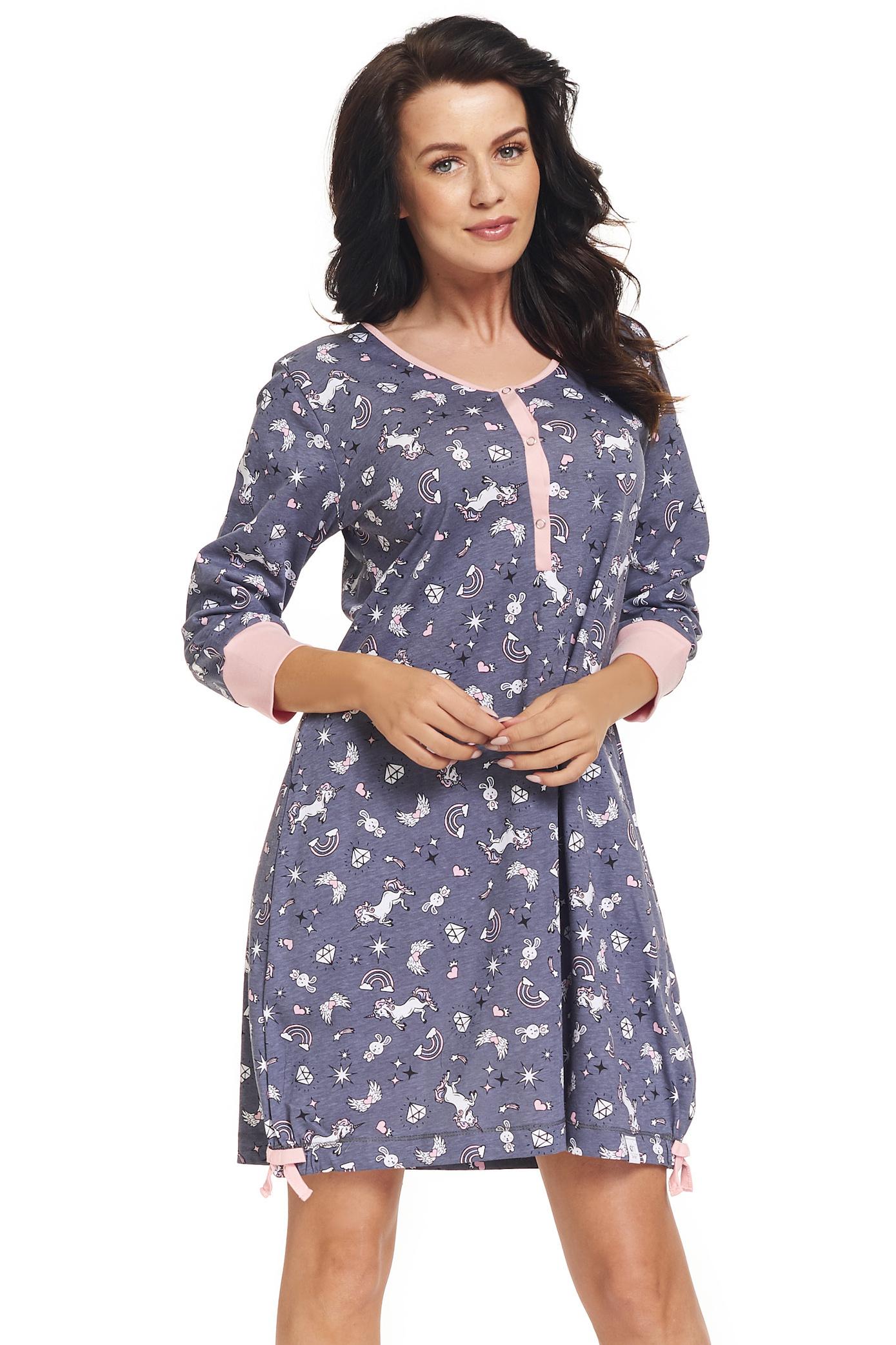 a631ad953ee6 Dámska bavlnená nočná košeľa Peyton sivá - ELEGANT.sk