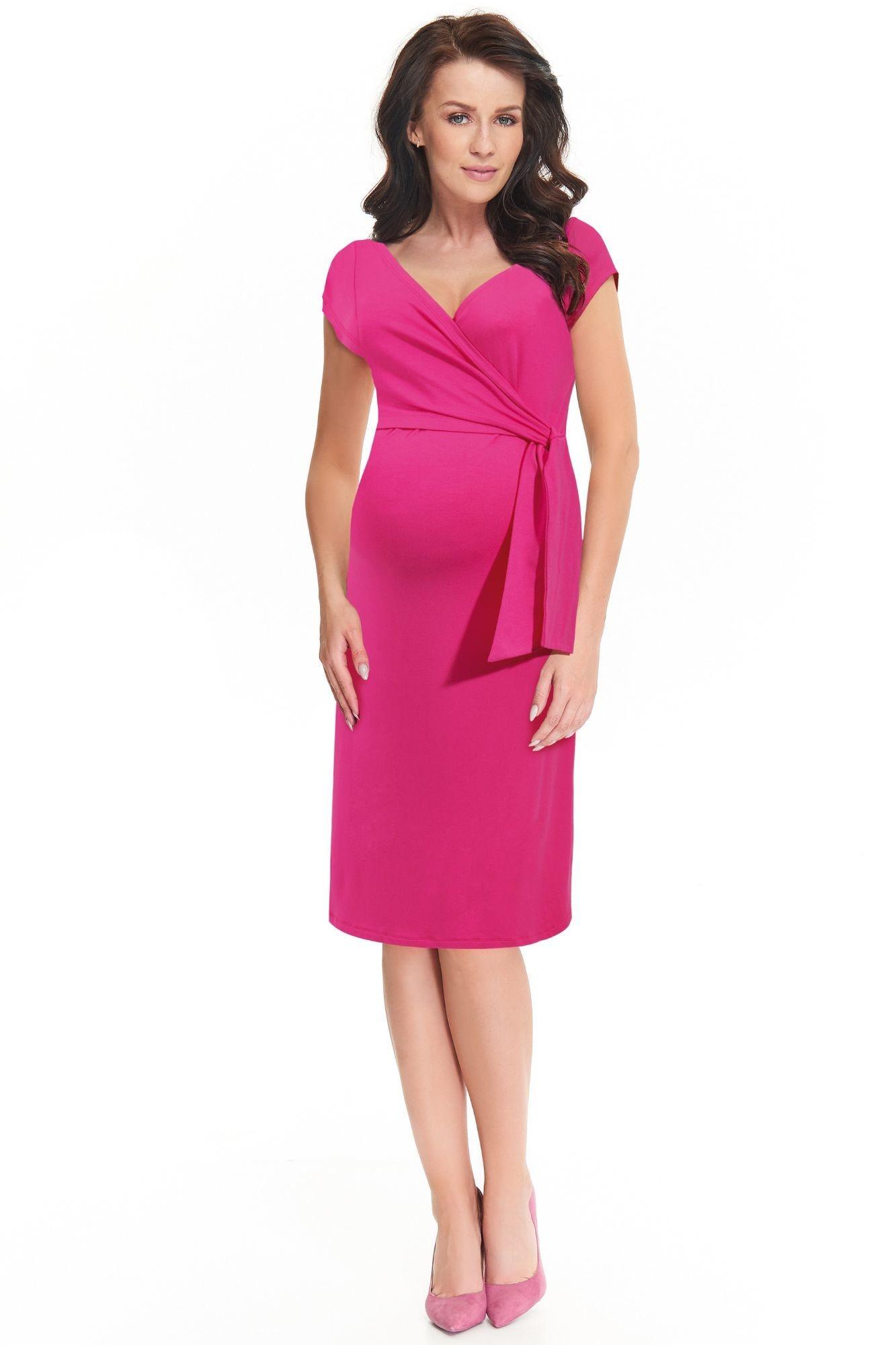 a8471541588a Dojčiace a tehotenské šaty Janisa ružové - ELEGANT.sk