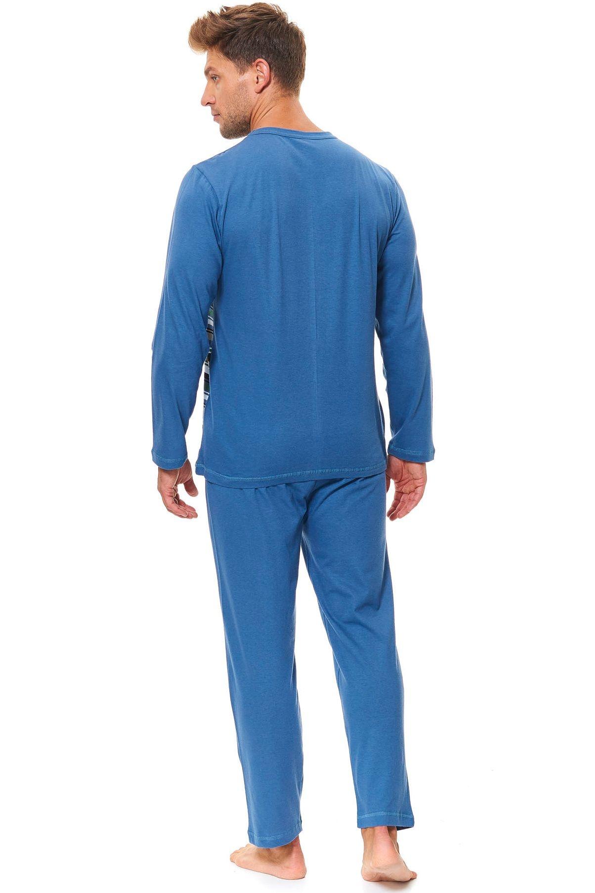 b4477aff1 Pánske bavlnené pyžamo Henry zelené prúžky Pánske bavlnené pyžamo Henry  zelené prúžky ...