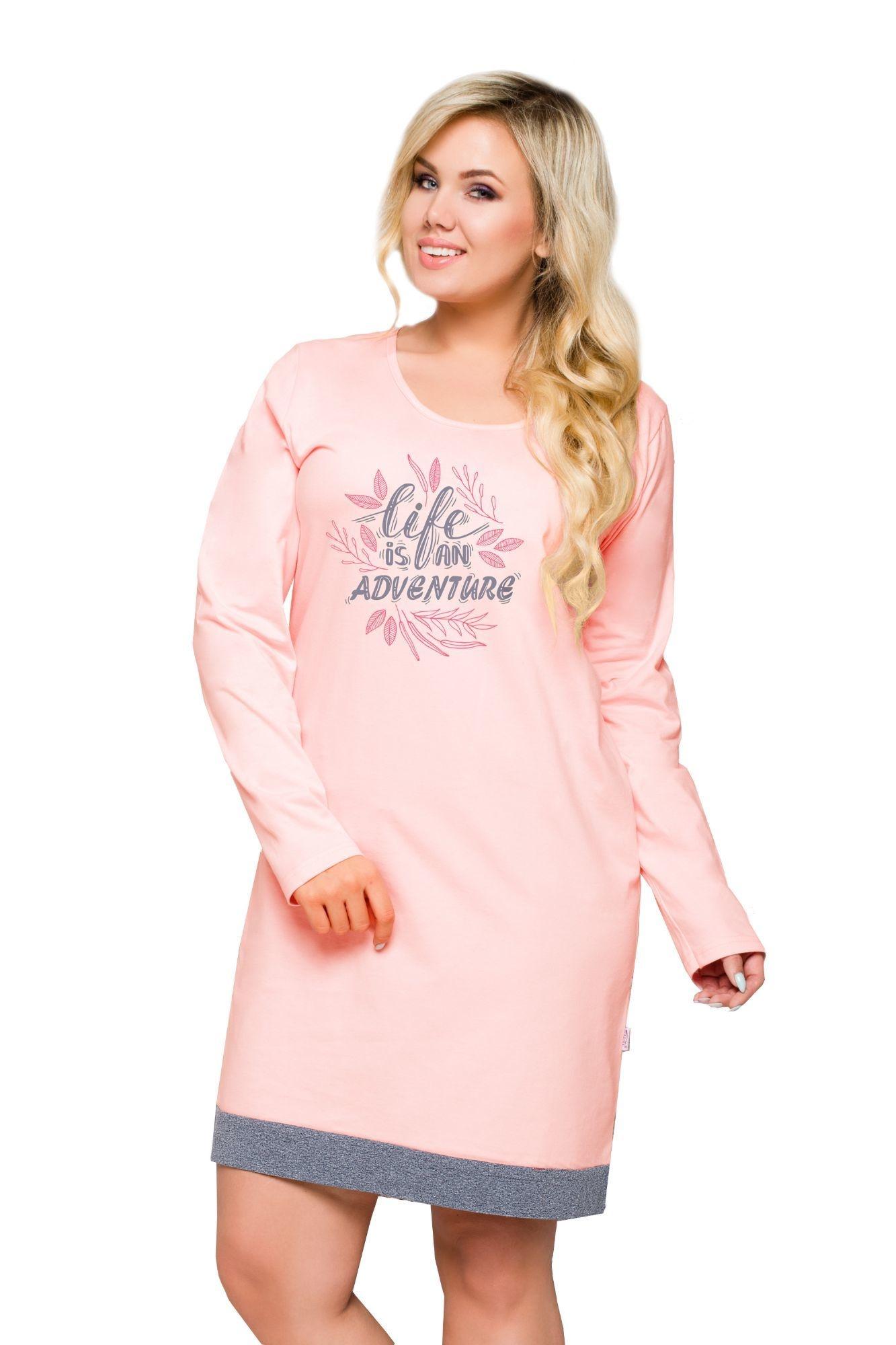 5612ab66f65c Nočná košeľa pre plnoštíhle Viva ružová