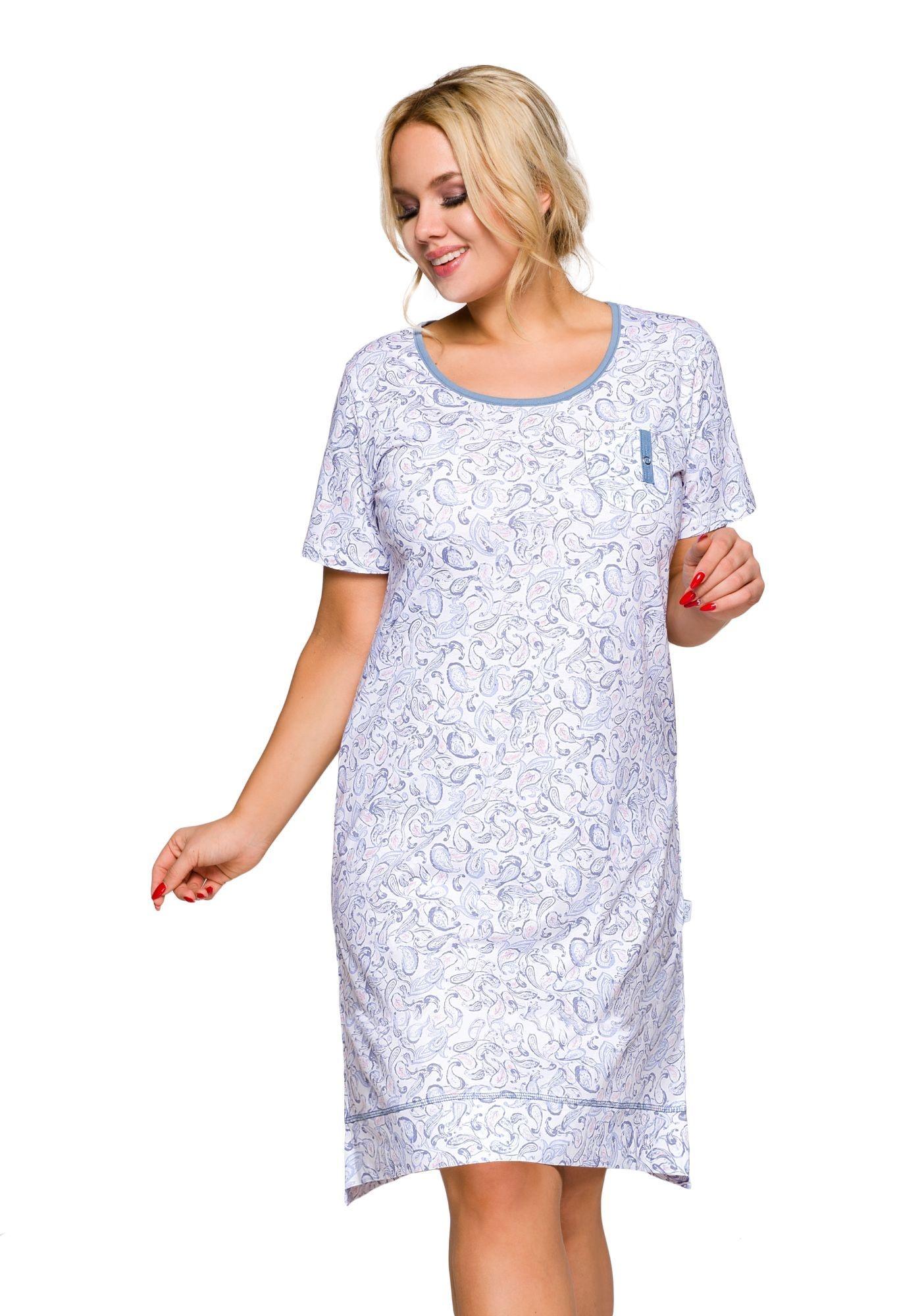 47f228907b46 Dámska nočná košeľa Mela modrá Dámska nočná košeľa Mela modrá