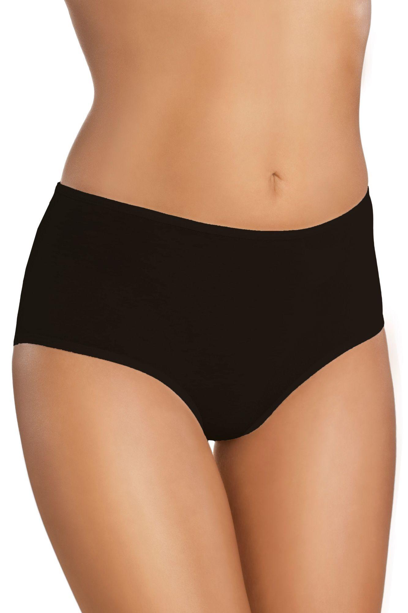 2f3c62145 Bavlnené dámske nohavičky s vyšším pásom 18 čierne - ELEGANT.sk
