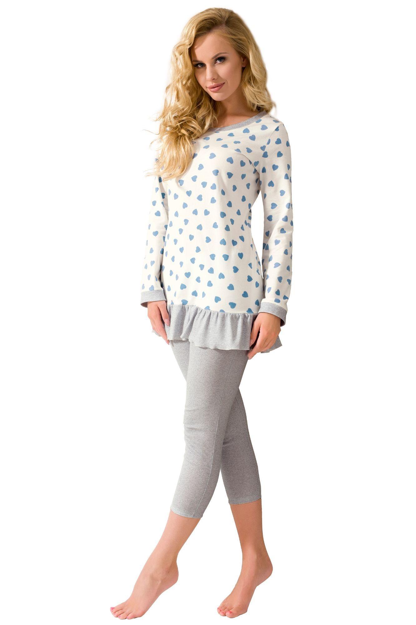 1bb9c1f328d2 Luxusní bavlněné pyžamo srdíčka Jasmine antibakteriální s dlouhými rukávy