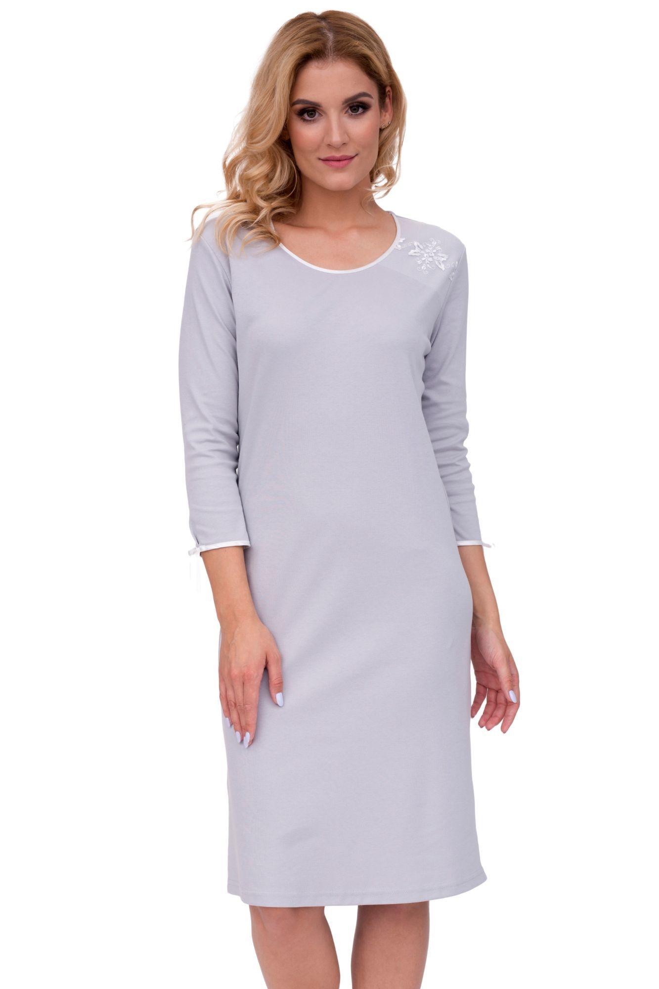 a0c26d512075 Luxusná dámska nočná košeľa Marta sivá - ELEGANT.sk