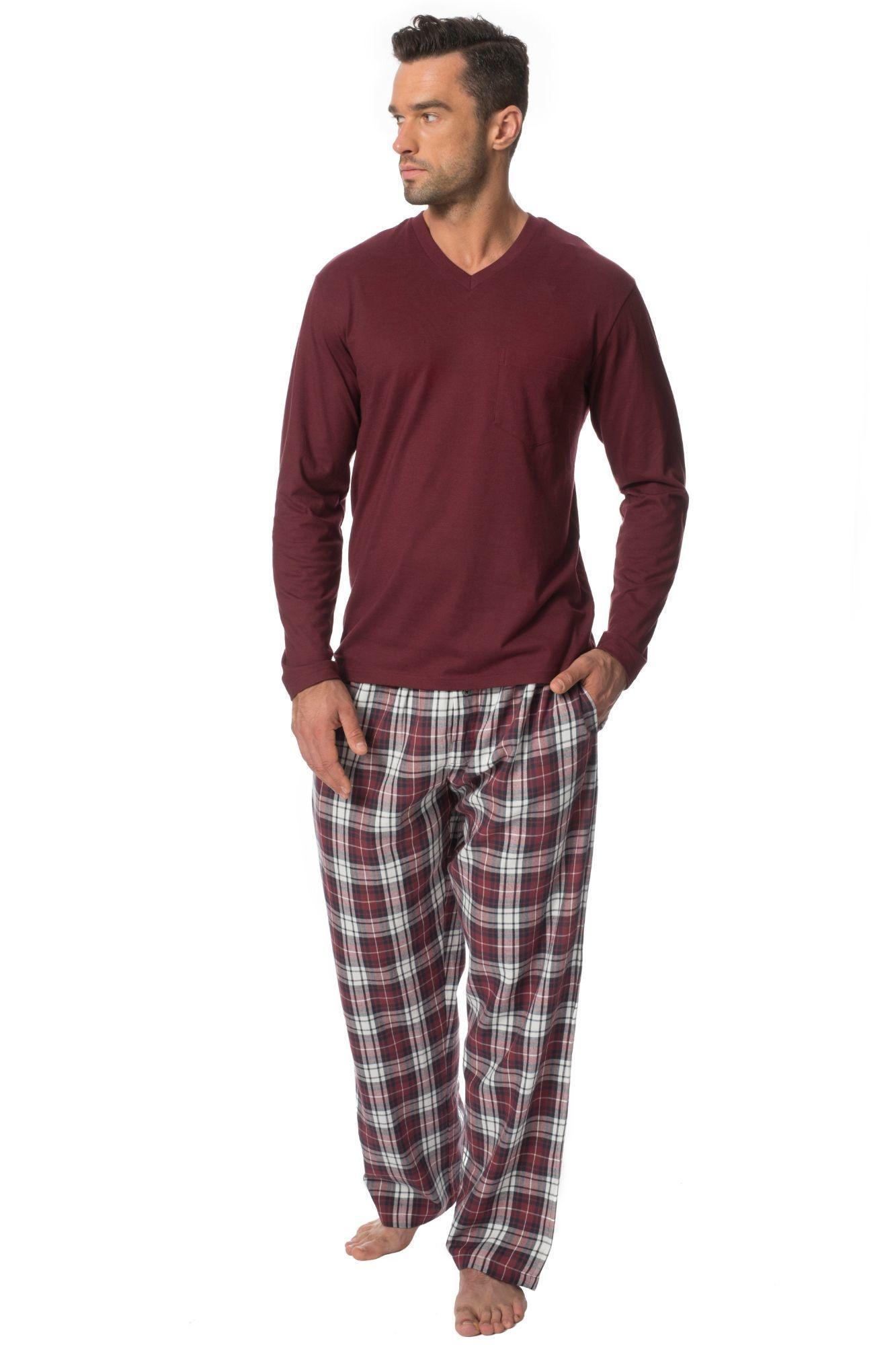 f3ce8af16de4 Pánske bavlnené pyžamo Danny vínové - ELEGANT.sk