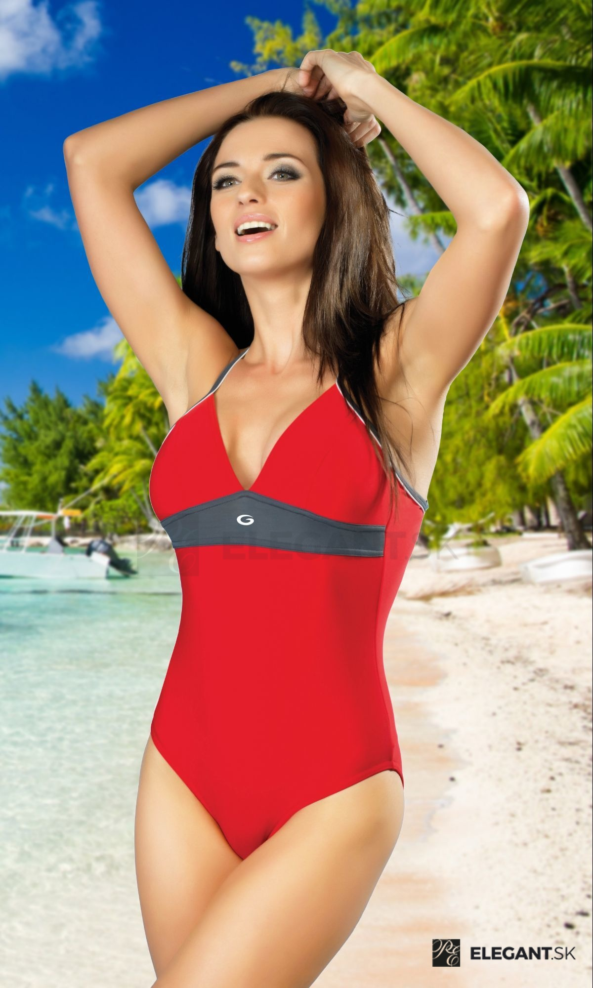 41176dd46 Jednodielne športové červené plavky Rosanna I - ELEGANT.sk
