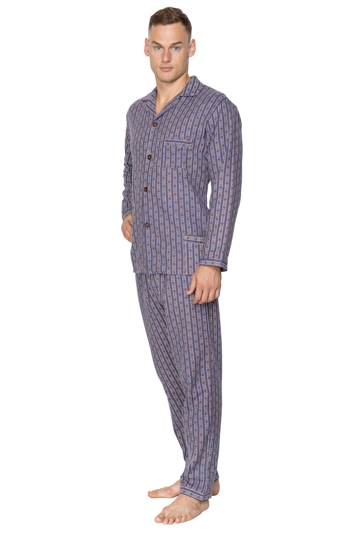 a32d9b8ba83e Flanelové pyžamo Bradley s gombíkmi hnedé - ELEGANT.sk