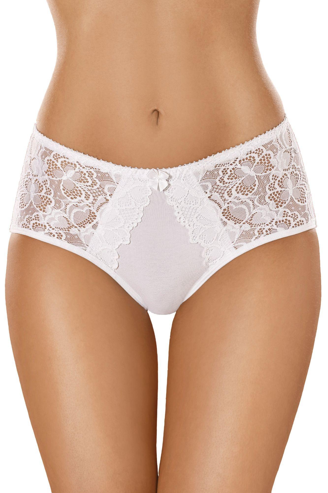 1768c34b0 Bavlnené dámske nohavičky s čipkou 101 biele - ELEGANT.sk
