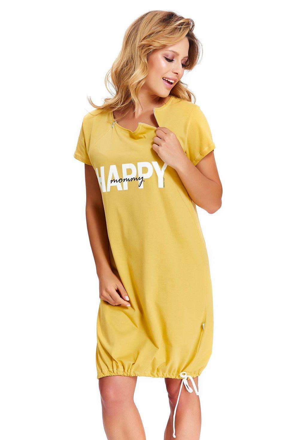 45060ebc97af Materská nočná košeľa Happy mommy žltá - ELEGANT.sk