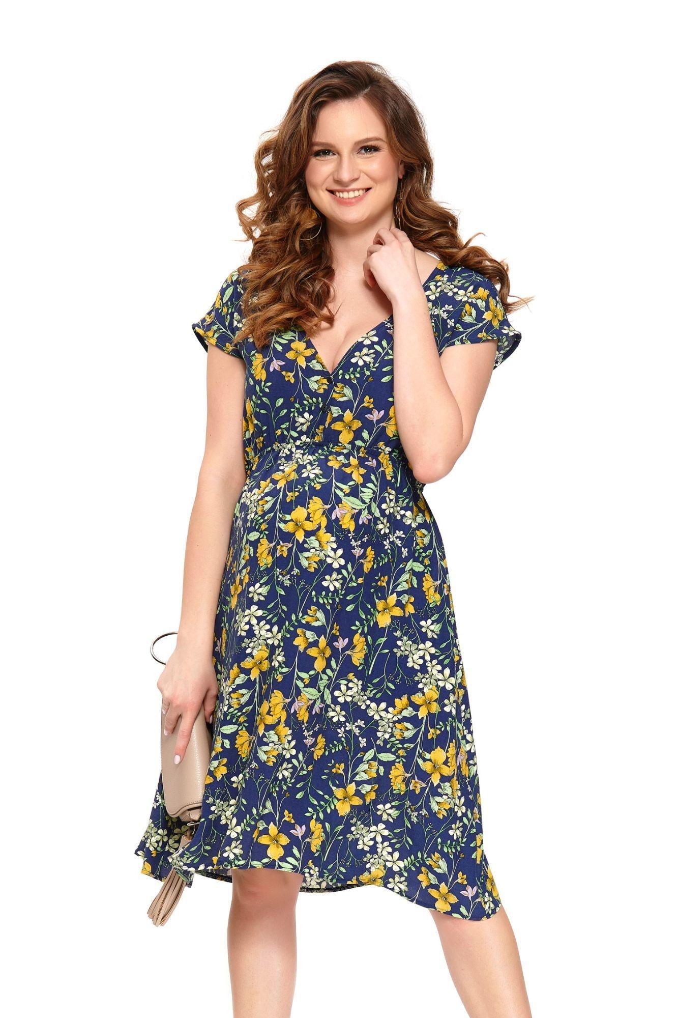 e8b5140c03 Nové Doprava zadarmo. Letné materské šaty Marcela modré