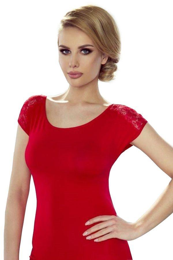 609ed1a3b3a1 Dámské triko Amisa červené s výstřihem na zádech