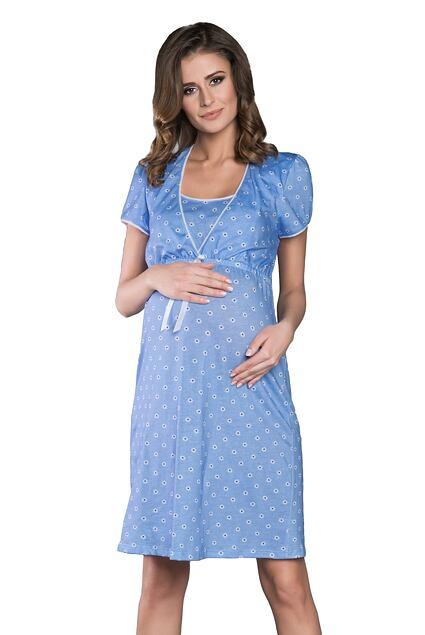 977e3ead5ff3 Materská nočná košeľa Daisy svetlo modrá - ELEGANT.sk